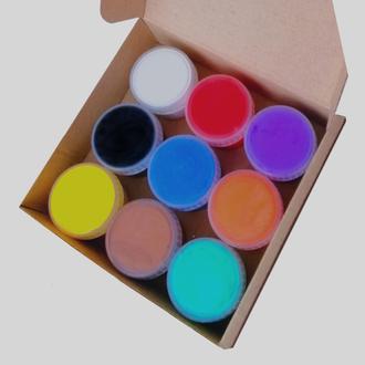 Фарба для тканини 9 шт