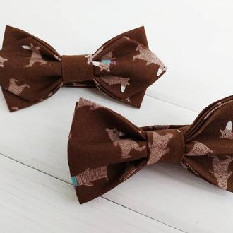 Дитячий метелик коричневий ведмедики