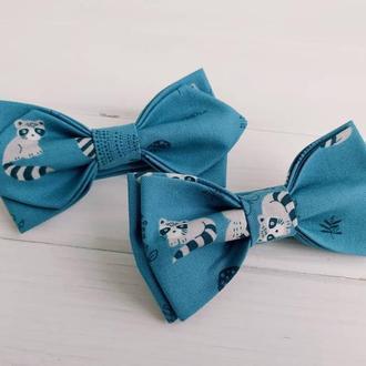 Синя дитяча краватка метелик єноти
