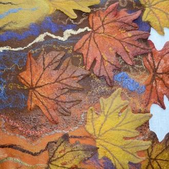 Валяный палантин ′Яркая Осень′
