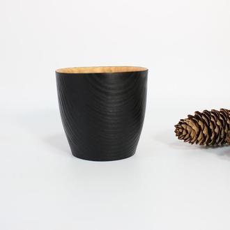 Стакан з дерева для холодних та гарячих напоїв