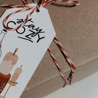 Цветной шпагат для упаковки подарков (цвета в ассортименте) / цена за 1 м / п