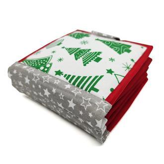 Новорічна книжка з фетру для самих маленьких, М'які книжки Handmade, 10 сторінок / Santa Claus