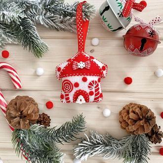 """Новогоднее украшение на ёлку """"Белый домик"""""""