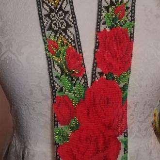 """Гердан """"Розы в орнаменте"""""""