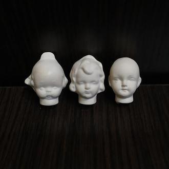 Кукольная голова для миниатюрных куколок и  ватных игрушек