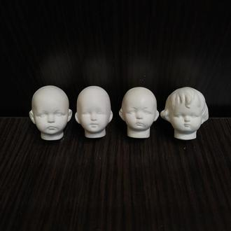Кукольная головка из флюмо для ватных игрушек и мини куколок и тедди долл