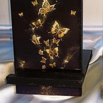 Подставка для телефона, смартфона, планшета. электронной книги ′Бабочки′