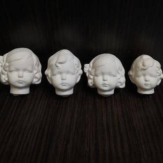 Лялькова голова для ватних іграшок і маленьких лялечок