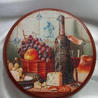 Сырная доска толстушка ′Натюрморт-3′ для оригинальной подачи закусок