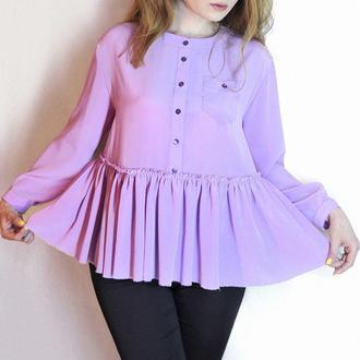 Блуза из 100% натурального шёлка. Шелковая воздушная блуза. Свободная блуза. Модная блузка
