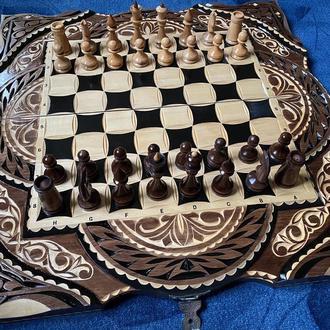 Шахматы-нарды-шашки 3 в 1 «Восточные»