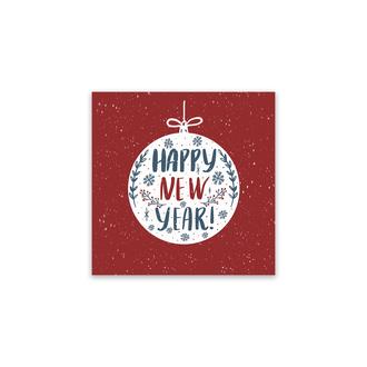 Мини-открытка «Happy New Year»