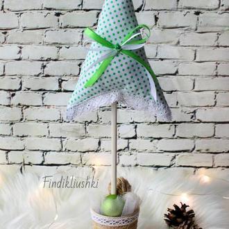 Текстильная ёлочка в стиле Тильда. Тильда ёлка. Новогодний сувенир