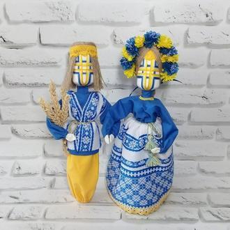 Кукольная пара оберег семейного счастья, семьи и дома, кукла мотанка