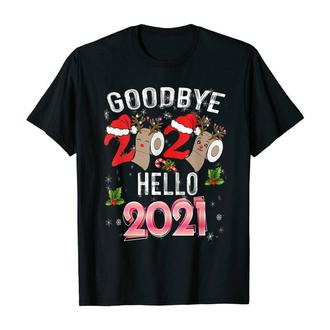 "ФП006338Футболка с новогодним принтом ""Goodbye 2020. Hello 2021"" Push IT"
