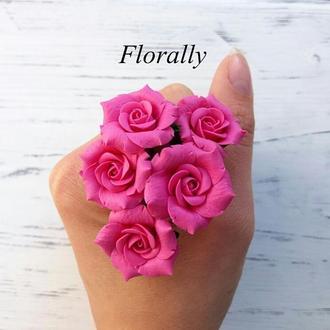 """Шпильки для волос """"Розовые розы"""""""