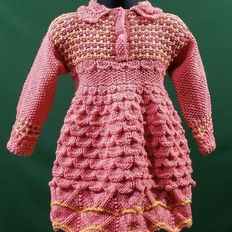 Тепле в'язана сукня