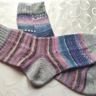 Носки вязаные мужские с носочної пряжи