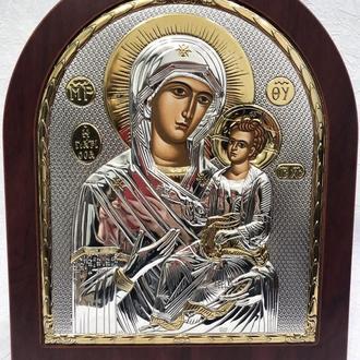 Срібна ікона Богоматір Іверська