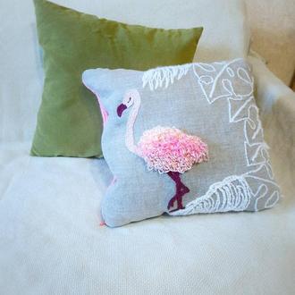 Подушка Фламинго декоративная.