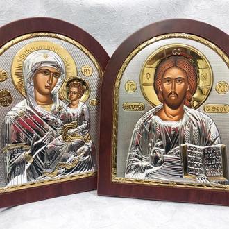 Серебрянные иконы для венчания