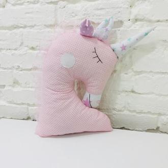 единорог подушка-игрушка сплюшка-игрушка для сна-подарок для девочки на новый год-декор в детскую