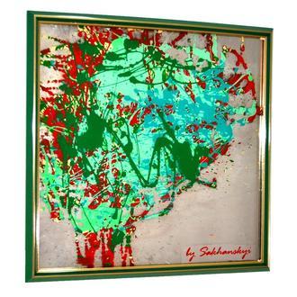 Parallel green Mirranizm by Sakhanskyi Парралельний зелений №6121