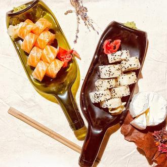 Стеклянная Тарелка бутылка для суши
