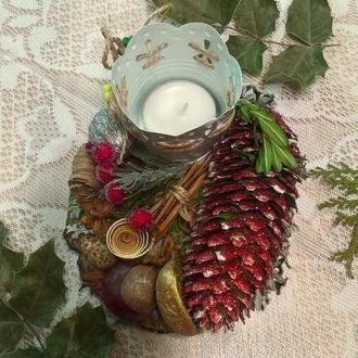 Новогодний сувенир. Рождественская композиция
