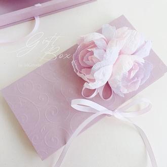 """Gift Box """"Kollet"""" (дымчато-розовый) - открытка в коробочке"""