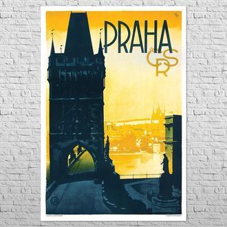 Плакат Прага ЧСР, 1930