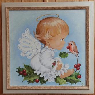 """Интерьерная картина для детской """"Ангелочек"""""""