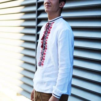чоловіча ткана сорочка