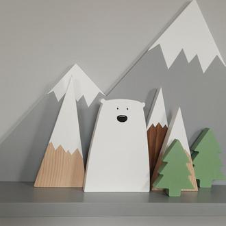 """Декор для дому """"Ведмедик"""", деревяний ведмідь"""