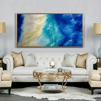 "картина маслом, абстракция ""Море"""
