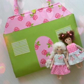 Текстильний ляльковий будиночок