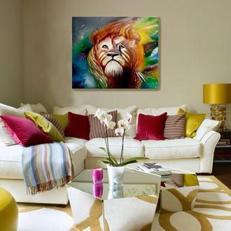 картина маслом Волшебный Лев