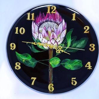 Настенные часы, керамические часы ручной работы, кухонные часы, красивые настенные часы