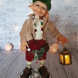 Авторская кукла Рождественский Гном