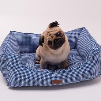 Дизайнерский лежак для собак Takeshi Blue Marine