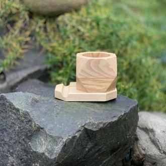 Дерев'яна яні кашпо