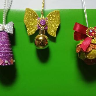 Ялинкові іграшки з фоамирана