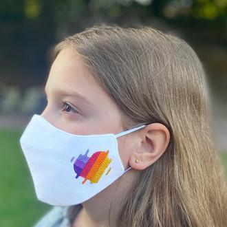 Маска защитная «LIKEE» белая детская 7-12 лет