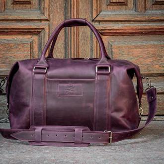 Мужская кожаная дорожная сумка. Спортивная кожаная сумка