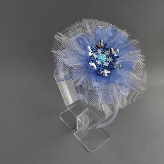 Ободок голубой Снежинка , в наличии, киев, самовывоз