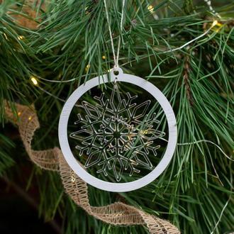 """Новогоднее украшение на ёлку """"Снежинка №1"""""""