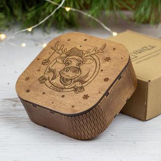 """Подарочная новогодняя коробка """"Помощник Санты"""""""