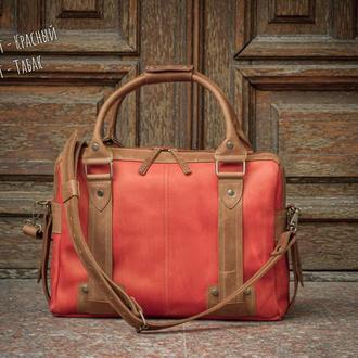 Мужская кожаная деловая сумка. Повседневная сумка для нетбука и документов