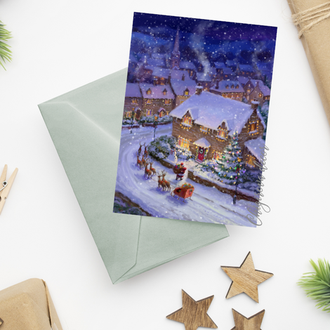 """Рождественская открытка """"Рождественская ночь"""""""